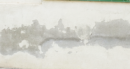Capil·laritat en una façana - Abans