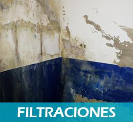 Filtraciones - Servicio soluciones antihumedad